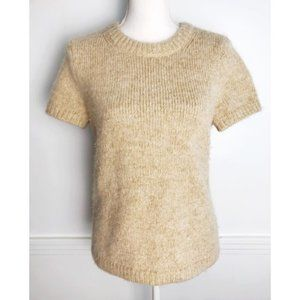 Kate Spade • Gold Metallic Wool Alpaca Sweater